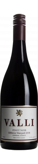 Valli Gibbston Vineyard Pinot Noir 2018