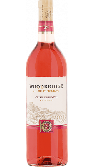 Bottle of Robert Mondavi Woodbridge White Zinfandel 2016 wine 750 ml
