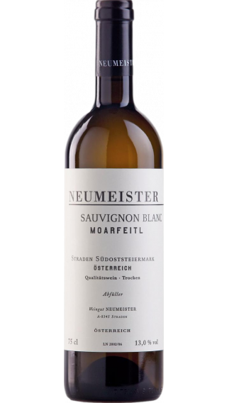 Bottle of Neumeister Moarfeitl Sauvignon Blanc 2016 wine 750 ml
