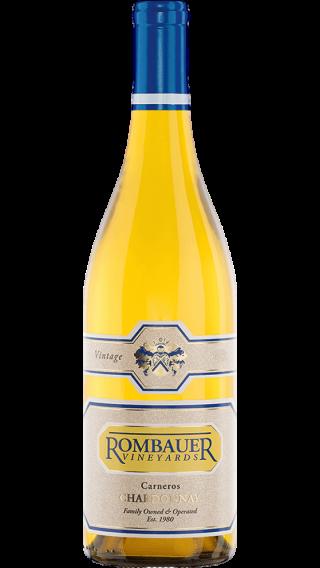 Bottle of Rombauer Vineyards Chardonnay 2017 wine 750 ml