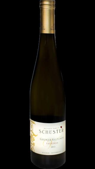 Bottle of Schuster Gruner Veltliner Valvinea 2013 wine 750 ml