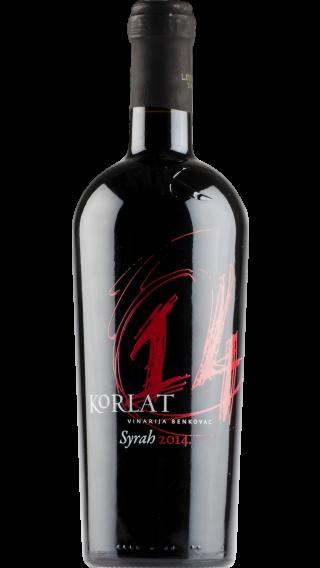 Bottle of Korlat Syrah 2014 wine 750 ml