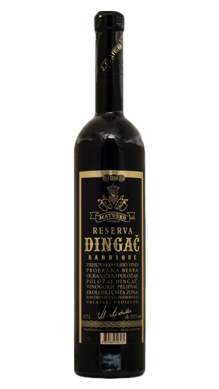 Bottle of Matusko Dingac Reserva 2011 wine 750 ml