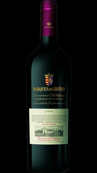 Bottle of Marques de Grinon Syrah 2015 wine 750 ml