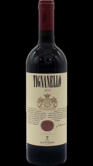 Bottle of Antinori Tignanello 2014 wine 750 ml
