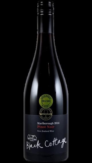 Bottle of Black Cottage Pinot Noir 2014 wine 750 ml