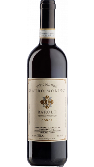 Bottle of Mauro Molino Barolo Conca 2014 wine 750 ml