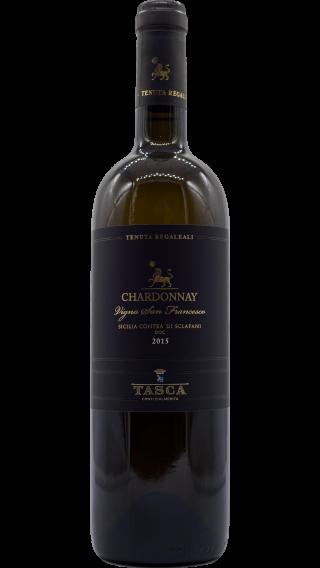 Bottle of Tasca d'Almerita Tenuta Regaleali Chardonnay 2015 wine 750 ml