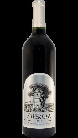 Bottle of Silver Oak Alexander Valley Cabernet Sauvignon 2010 wine 750 ml