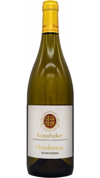 Bottle of Krauthaker Chardonnay Rosenberg 2015 wine 750 ml