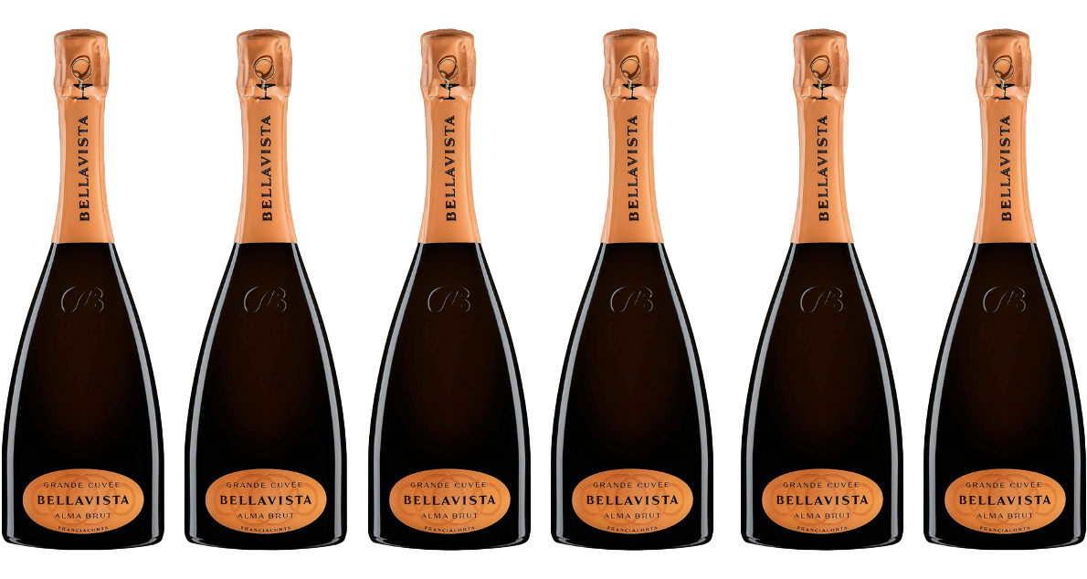 Bottle of Bellavista Franciacorta Alma Gran Cuvee Brut 6 Flaschenset wine 0 ml