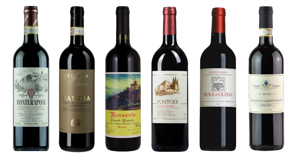 Bottle of Chianti Premium Verskostungsset wine 0 ml