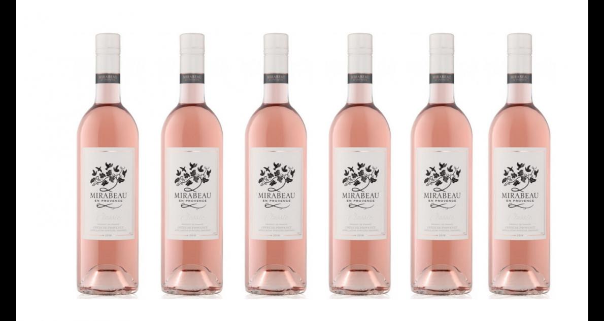 Bottle of Mirabeau Classic Provence Rose 2019 6 Flaschenset wine 0 ml
